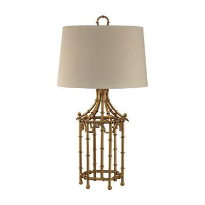 Orly 32.3 in. Gold Leaf Table Lamp with Shade