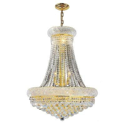 Empire 14-Light Gold and Clear Crystal Chandelier