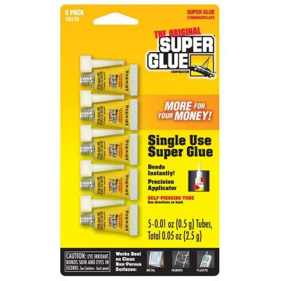 .01 oz. Glue Single Use Minis, (5) .01 oz. Tubes per card (12-Pack)