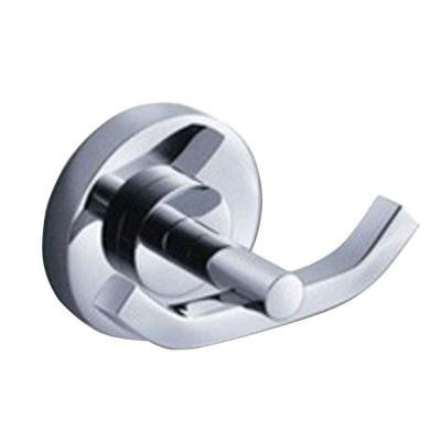 Alzato Double Robe Hook in Chrome
