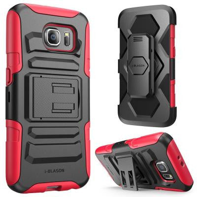 Rugged Holster Case for Galaxy S6 - Prime Red