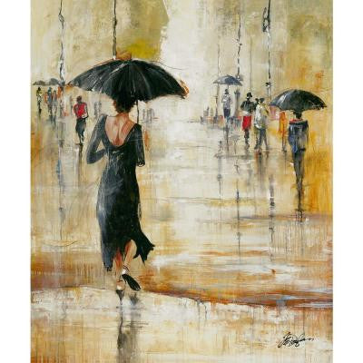 "60 in. x 50 in ""Change in the Weather"" by F. Elizabeth Douglas Gallery Wrapped Canvas Wall Art"
