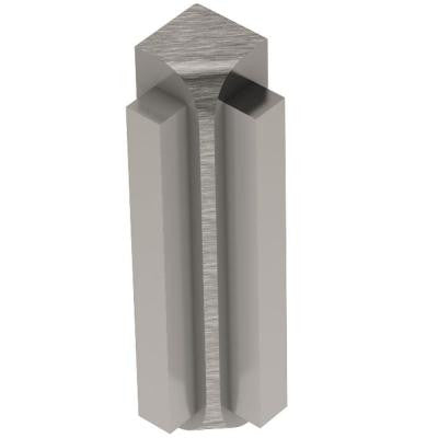 Rondec-Step Brushed Nickel Anodized Aluminum 3/8 in. x 1-7/8 in. Metal 90 Degree Inside Corner