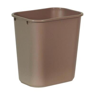 Standard Series 7 Gal. Beige Rectangular Deskside Trash Can