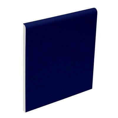 Bright Cobalt 4-1/4 in. x 4-1/4 in. Ceramic Surface Bullnose Wall Tile