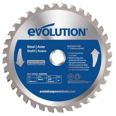 7-1/4 in. 40-Teeth Mild Steel Cutting Saw Blade