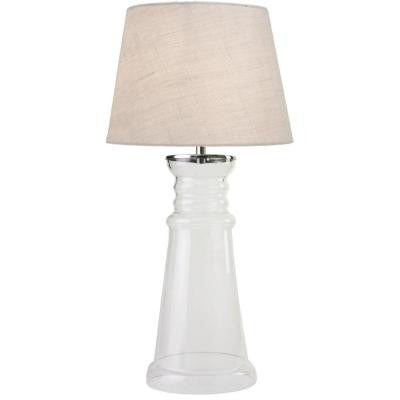 Epic 29 in. Clear Table Lamp