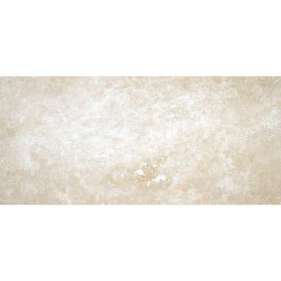 Tuscany Ivory 8 in. x 12 in. Honed Travertine Floor and Wall Tile (6.67 sq. ft. / case)