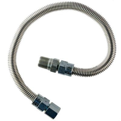1/2 in. MIP x 1/2 in. FIP x 48 in. Stainless Steel Heater Connector