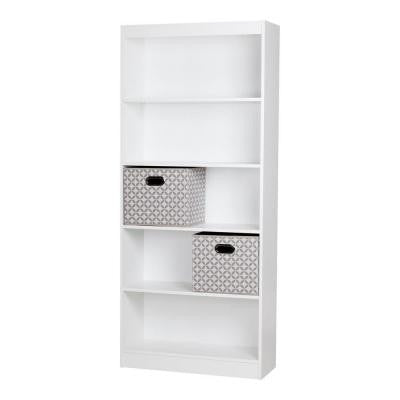 Axess 5-Shelf Bookcase in Pure White