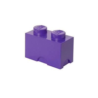Friends Storage Brick 2 - 4.92 in. D x 9.92 in. W x 7.12 in. H Stackable Polypropylene in Medium Lilac