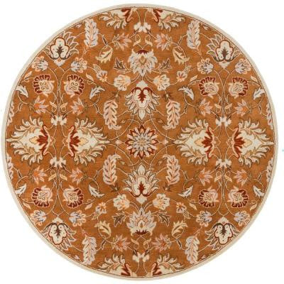 Cyrus Tan 4 ft. x 4 ft. Round Indoor Area Rug
