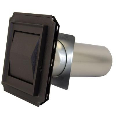 4 in. J Block Vent Hood in Brown with 11 in. Tail Pipe for Brick, Siding and Stucco Applications