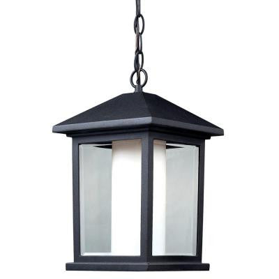 Gleam Black Outdoor Pendant