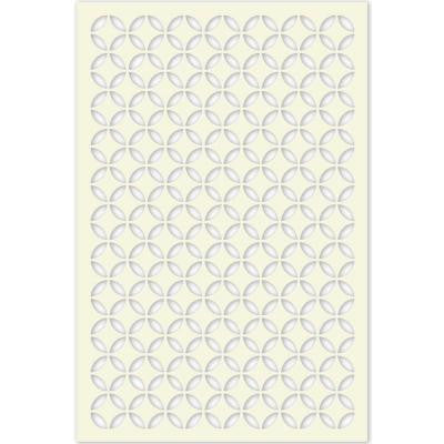 1/4 in. x 32 in. x 4 ft. Beige Moorish Circle Vinyl Decor Panel