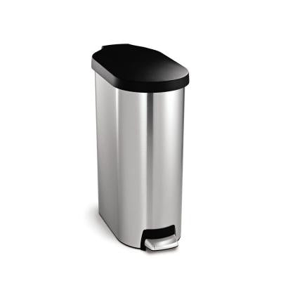 45 l Slim Step Brushed Stainless Steel Trash Can