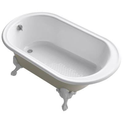 Iron Works Historic 5.5 ft. Reversible Drain Soaking Tub in White