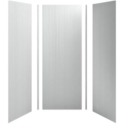 Choreograph 36 in. x 36 in. x 96 in. 5-Piece Shower Wall Surround in Ice Grey with Cord Texture for 96 in. Showers