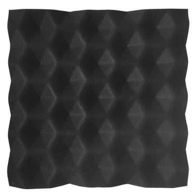 FeltForms 24 in. W x 24 in. L x 2 in. H Black Acoustic Insulation Hex Panels (4-Pack)