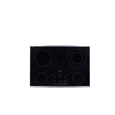 30 in. Smooth Top Electric Cooktop in Stainless Steel with 5 Elements including Flex-Power Element