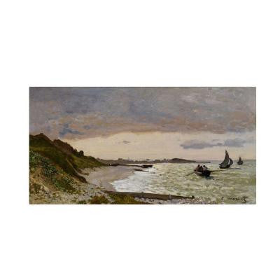 "24 in. x 47 in. ""The Seashore at Sainte-Adresse"" Canvas Art"