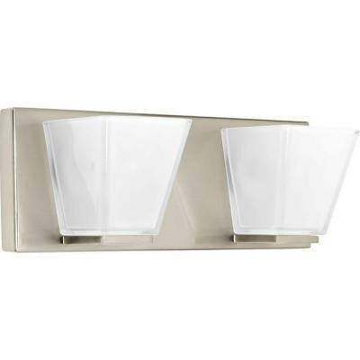 Streaming Collection 2-Light Brushed Nickel Bath Light