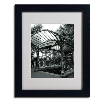11 in. x 14 in. Le Metro as Art Matted Framed Art