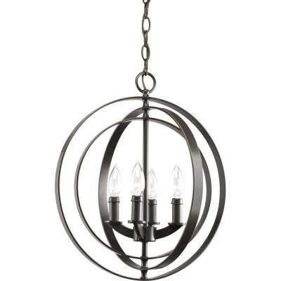 Equinox Collection 4-Light Antique Bronze Foyer Pendant