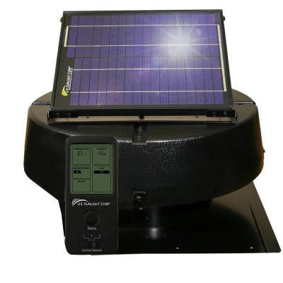 12-Watt Solar Powered Roof Mount Attic Fan with Solar Controller Ventilates up to 1550 sq. ft.