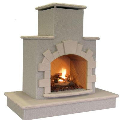 78 in. Propane Gas Outdoor Fireplace