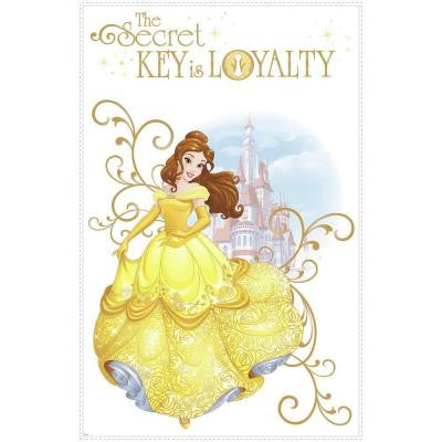 2.5 in. W x 27 in. H Disney Princess Belle 2-Piece Peel and Stick Giant Wall Graphic
