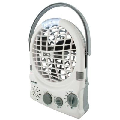6 in. USB Personal Fan with Radio