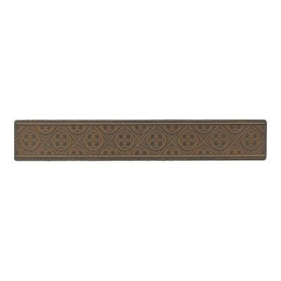 Castle Metals 2 in. x 12 in. Wrought Iron Metal Clover Border Wall Tile