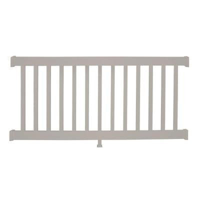 Walton 36 in. x 48 in. Vinyl Tan Straight Rail Kit