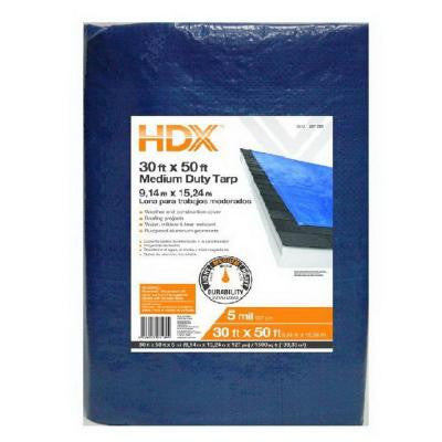 30 ft. x 50 ft. General Purpose Blue Tarp