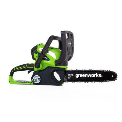 G-MAX 12 in. 40-Volt Electric Cordless Chainsaw with 2 Ah Battery and Charger