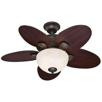 Carmen 34 in. Indoor New Bronze Ceiling Fan