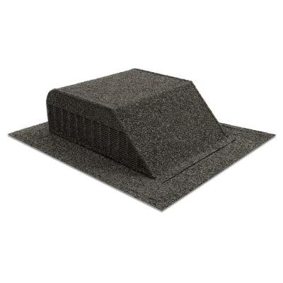 Granule-Coated Aluminum Slant Back Static Roof Vent in Black