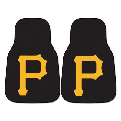 Pittsburgh Pirates 18 in. x 27 in. 2-Piece Carpeted Car Mat Set