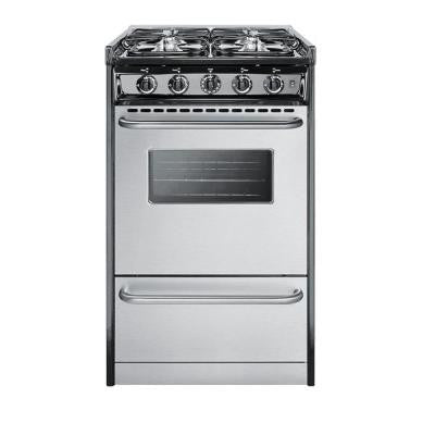 20 in. 2.5 cu. ft. Slide-In Gas Range in Stainless Steel