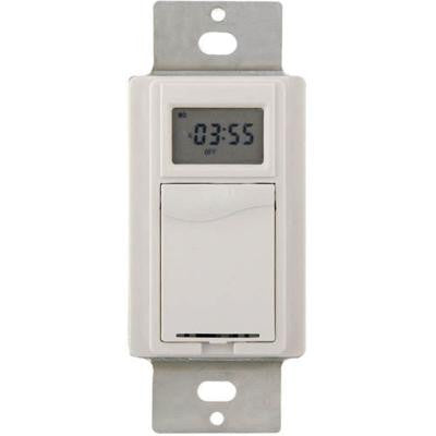 277 Volt HD Digital In-Wall Timer - White