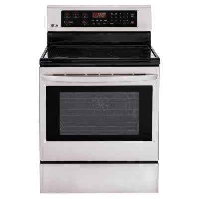 6.3 cu. ft. Single Oven Electric Range with Self-Cleaning Convection Oven in Stainless Steel
