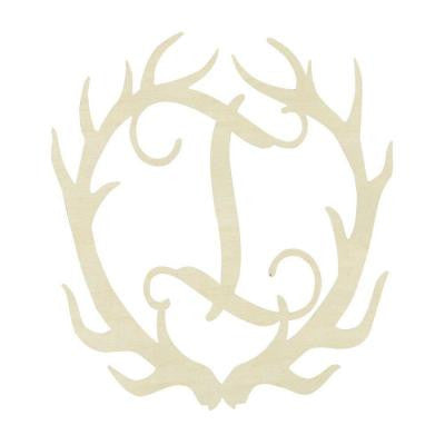19.5 in. Unfinished Antler Monogram (I)