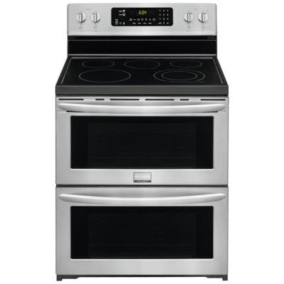 Gallery 7.0 cu. ft. Freestanding Electric Range with Symmetry Double Ovens in SmudgeProof Stainless Steel