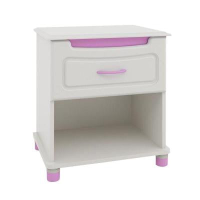 1-Drawer Nightstand in White Stipple