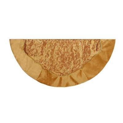 54 in. Gold Embroidery Sequin Christmas Tree Skirt