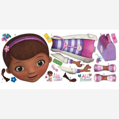 Doc McStuffins Peel and Stick Giant 18-Piece Wall Decals