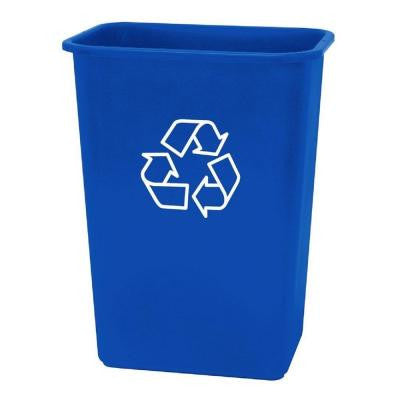41 qt. Plastic Recycling Wastebasket