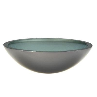 Translucence Glass Vessel Sink in Painted Metallic Silver