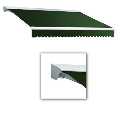 24 ft. LX-Destin with Hood Manual Retractable Acrylic Awning (120 in. Projection) in Forest